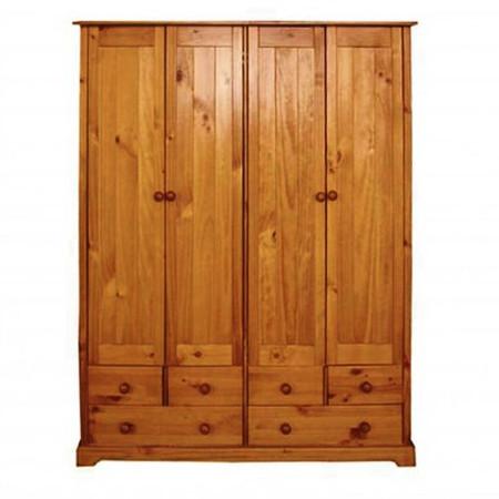 LPD Baltic 4 Door Wardrobe