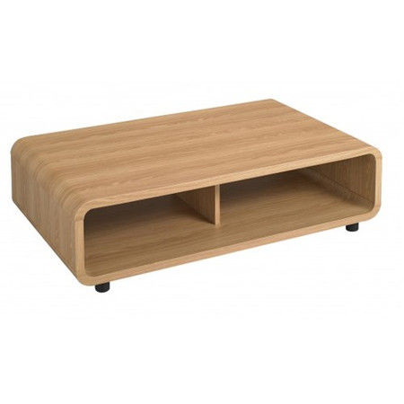 LPD Curve Coffee Table in Oak