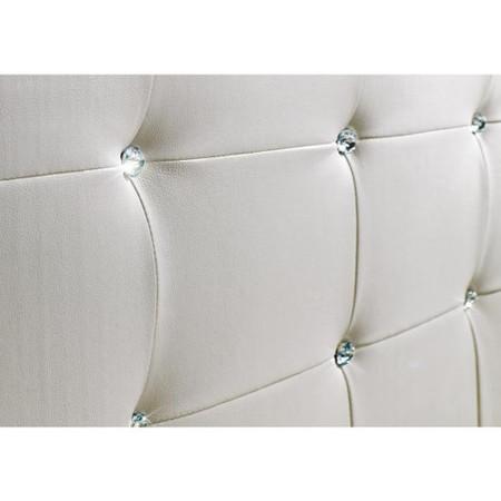 LPD Diamante Kingsize Bed in White