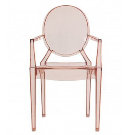 LPD Pair of Maison Ghost Style Chairs in Pink