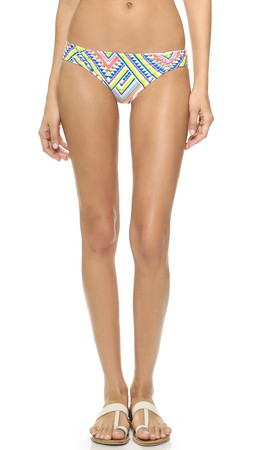 L*Space Antigua White Monique Reversible Bikini Bottoms - White
