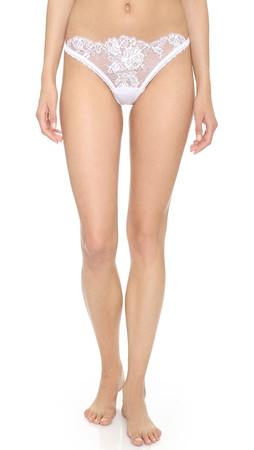 La Perla Maharani Brazilian Panties - Bianco