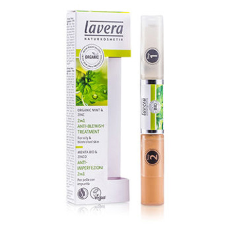 Lavera 2 In 1 Anti-Blemish Treatment - Mint & Zinc (For Oily & Blemished Skin) 10.5ml/0.36oz