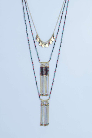 Layered Beaded Necklace multi