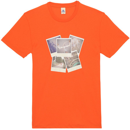 Le Coq Sportif Abutilon Short Sleeve Tee - Small Orange | Tees
