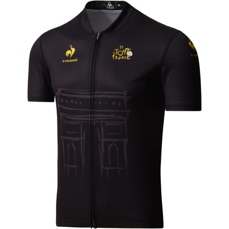 Le Coq Sportif Kid's TDF Dedicated Yorkshire Black Jersey - 12 years