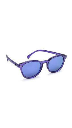Le Specs Bandwagon Sunglasses - Ultraviolet/Purple Revo Mirror