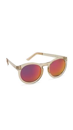 Le Specs Chesire Sunglasses - Honey/Red Revo Mirror