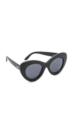 Le Specs Go Go Go Sunglasses - Black Matte/Smoke Mono