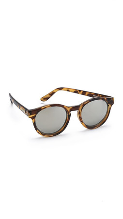 Le Specs Hey Macarena Sunglasses - Syrup Tort/Gold Revo Mirror