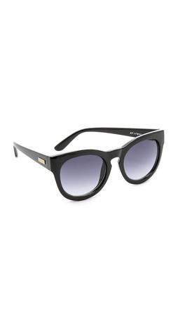 Le Specs Jealous Games Sunglasses - Shiny Black/Smoke Gradient