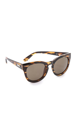 Le Specs Jealous Games Sunglasses - Streaky Tort/Brown Mono
