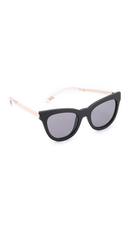 Le Specs Le Debutante Sunglasses - Black Rubber/Smoke Mono