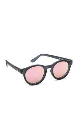 Le Specs Limited Edition Hey Macarena Sunglasses - Matte Slate/Peach Revo Mirror