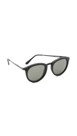 Le Specs No Smirking Sunglasses - Black Rubber/Khaki Mono