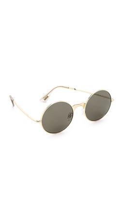 Le Specs Poolside Punk Sunglasses - Brushed Gold/Khaki Mono