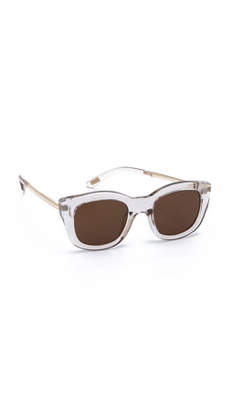 Le Specs Runway Luxe Sunglasses - Sand/Brown Mono