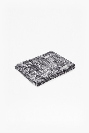 Leticia Tattoo Printed Scarf - Black/White