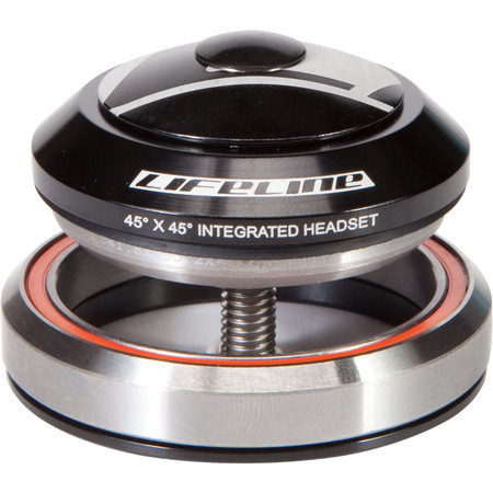 """LifeLine 1-1/8""""-1.5"""" Intergrated Headset with Alloy Cap - 1 1/8""""-1.5"""""""