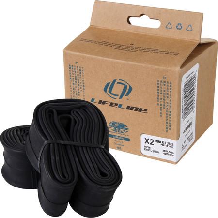 LifeLine Essential MTB Medium Inner Tubes - 2 Pack - Presta Valve