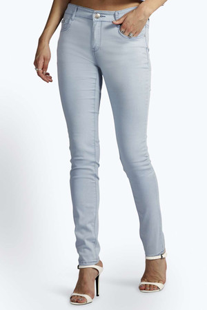 Light Blue Skinny Jeans blue