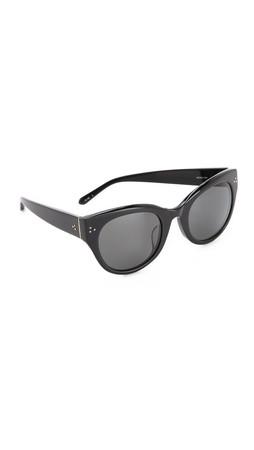 Linda Farrow Luxe Cat Eye Sunglasses - Black/Grey