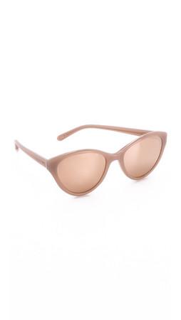 Linda Farrow Luxe Cat Eye Sunglasses - Dusty Rose/Rose Gold