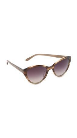 Linda Farrow Luxe Cat Eye Sunglasses - Fig/Grey