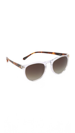 Linda Farrow Luxe Translucent Sunglasses - Clear/Brown Gradient