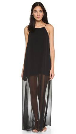 Line & Dot Rebel Sheer Maxi Dress - Black