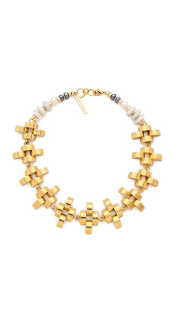 Lizzie Fortunato Arena Necklace - Gold