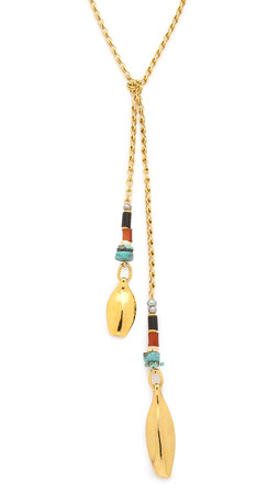 Lizzie Fortunato Argon Lariat Necklace - Gold Multi
