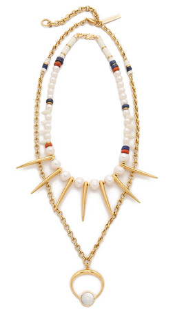 Lizzie Fortunato The New Moon Convertible Necklace - Gold Multi