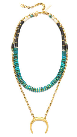 Lizzie Fortunato The Snake Charmer Covertible Necklace - Turquoise Multi