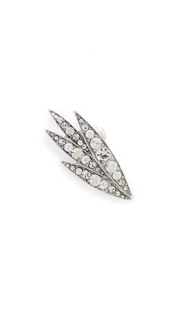 Lulu Frost Datura Ear Cuff - Clear/Silver