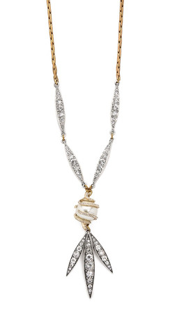 Lulu Frost Datura Necklace - Clear/Pearl