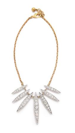 Lulu Frost Datura Spike Necklace - Clear/Gold