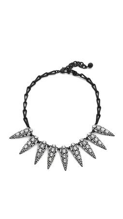 Lulu Frost Jabrosa Spike Necklace - Clear/Black