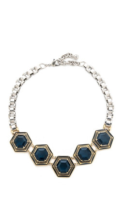 Lulu Frost Nicandra Hex Necklace - Blue