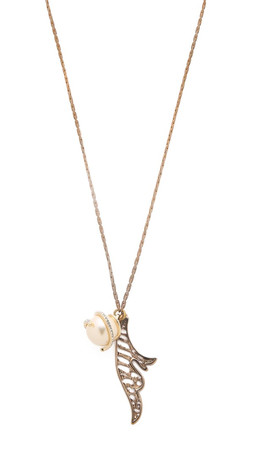 Lulu Frost Wisteria Charm Necklace - Gold/Pearl