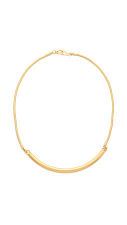 Madewell Bar Necklace - Vintage Gold