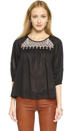 Madewell Boho Blouse - Almost Black
