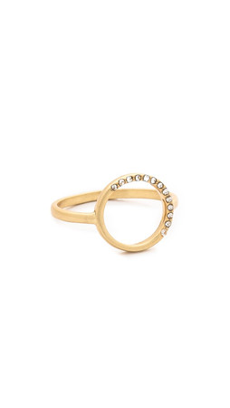 Madewell Circle Pave Ring - Bright Ivory