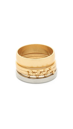 Madewell Dot Stick Stacking Ring - Vintage Gold