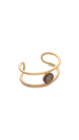 Madewell Flat Sided Cuff Bracelet - Chestnut