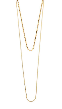 Madewell Lisa Chain Choker Necklace - Gold Ox