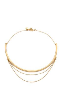 Madewell Long Stem Necklace - Vintage Gold