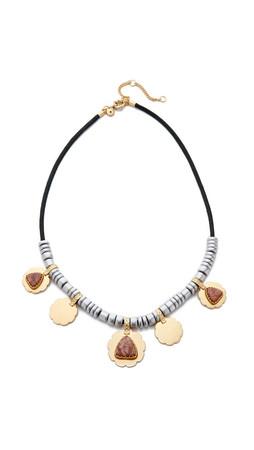 Madewell Metal Floret Necklace - Worn Rhodium