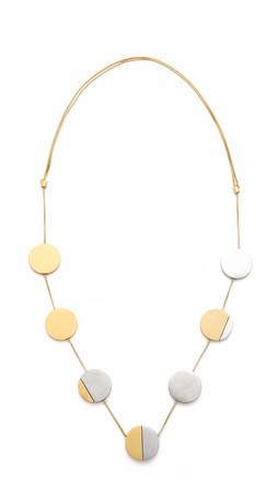 Madewell Moodshade Necklace - Worn Rhodium