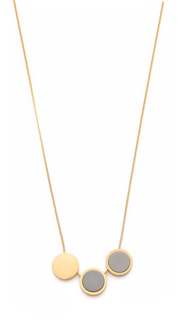 Madewell Moonshade Baby Necklace - Vintage Gold